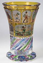 VIENNA / BOHEMIAN SIGNED DECORATED BEAKER