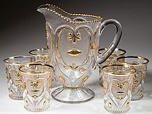JEWELLED HEART / VICTOR (OMN) SEVEN-PIECE WATER SET