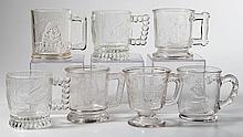 ASSORTED PATTERN MUGS, LOT OF SEVEN