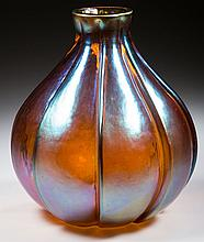 MOLDED ART GLASS VASE