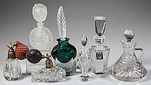 ASSORTED GLASS PERFUME BOTTLES, LOT OF SIX