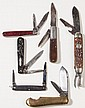 REMINGTON VARIOUS HANDLE POCKET KNIVES, LOT OF SIX
