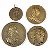 ASSORTED HISTORICAL BRONZE MEDALLIONS, LOT OF FOUR