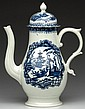 LIVERPOOL PORCELAIN (JAMES PENNINGTON) COFFEEPOT AND COVER