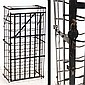 FRENCH WROUGHT IRON WINE SAFE, SIGNED