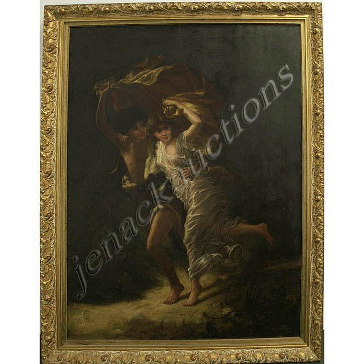 AFTER PIERRE-AUGUSTE COT (FRENCH 1837-1883) OIL ON