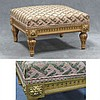 FRENCH LOUIS XV STYLE CARVED AND GILT FOOT STOOL