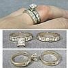 SET (2) 14K WHITE GOLD DIAMOND ENGAGEMENT RING