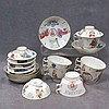 LOT (19) CHINESE EXPORT FAMILLE ROSE PORCELAIN