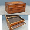 VINTAGE PINE SILVER CHEST WITH BRASS FITTINGS