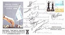 Envelope signed by the participants of the Israel Chess Championship, 2008