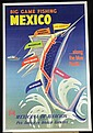 Pan American Airlines Travel Poster Big Game Fishing