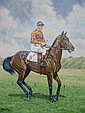 Roy Miller, oil on canvas horse racing painting of, Roy Miller, Click for value