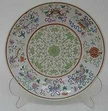 A late 19th Century Famille Vert Chinese porcelain