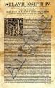 Flavii Iosephi. Koln, 1523.