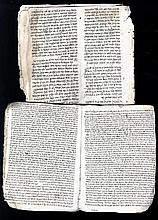 Collection of Leaves and Fragments of Works from Geniza. Sephardic Hands