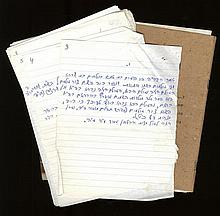 Notebooks in the Hand of Rabbi Shmuel Hominer of Jerusalem, Preparation for his work