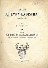 Chevra Kadisha of Erloi. Erloi- Eger. 1898