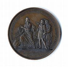 Bronze Medallion. France, 1870s