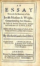 An ESSAY towards the recovery of the Jewish measures and weights. London, 1686. Illustrations