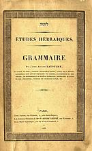 Etudes Hebraiques, Grammaire. Hebrew Grammar. Paris, 1836