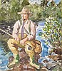 WALDO PEIRCE (American, 1884-1970) THE FLY FISHERMAN
