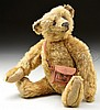 CHARMING EARLY GOLD STEIFF BEAR WITH BUTTON.