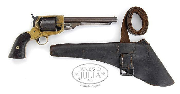 SPILLER  &  BURR REVOLVER REVOLVER WITH HOLSTER AND BELT.