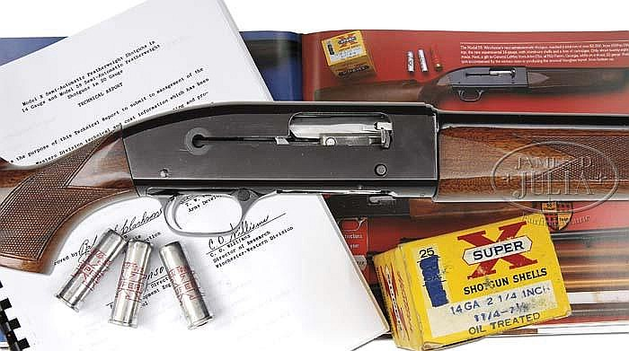 *RARE EXPERIMENTAL 14 GAUGE WINCHESTER MODEL 59 WITH AMMO, BOOK, AND FACTORY TEST RESULTS.