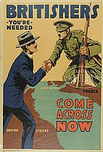 4 WWI POSTERS.