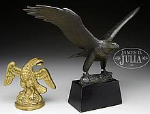 TWO METAL EAGLES.