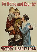 4 WWI MILITARY POSTERS.