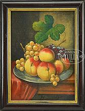 UNSIGNED (Early 20th Century) STILL LIFE OF PEACHES