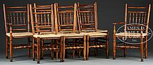 SET OF 8 IRISH COUNTRY QUEEN ANNE STYLE DINING CHAIRS.