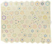 FOUR 19th CENTURY PATTERN QUILTS.
