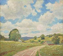 ROBERT EMMETT OWEN (American, 1878-1957) SPRING LANDSCAPE