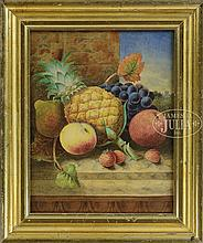 ENGLISH SCHOOL (19th Century) STILL LIFE WITH FRUIT INCLUDING PINEAPPLE
