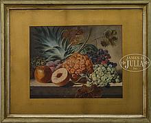 JOHN WILLIAM HILL (American, 1812-1879) FRUIT STILL LIFE
