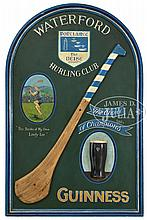 CARVED AND PAINTED GUINNESS TRADE SIGN.