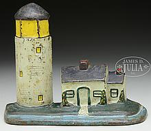 DOORSTOP, LIGHTHOUSE WITH COTTAGE.