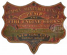 RUMSEY MANUFACTURING CO. TRADE SIGN.