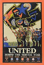 4 WWII MILITARY POSTERS.