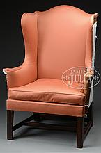 NEW ENGLAND CHIPPENDALE WING CHAIR.