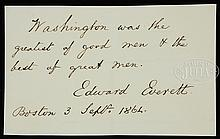 CIVIL WAR DATED AUTOGRAPHED QUOTATION SIGNED BY EDWARD EVERETTE.