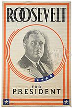 ROOSEVELT FOR PRESIDENT CAMPAIGN POSTER.