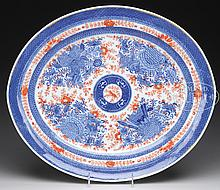 CHINESE EXPORT PORCELAIN PLATTER.