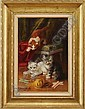 BRUNELL DE NEUVILLE (French, 20th Century) PLAYFUL KITTENS, Brunel Neuville, Click for value