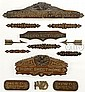 COLLECTION OF CARVED SIGNS FROM THE SHIP H.W. DUDLEY.