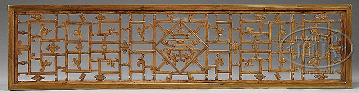 ORIENTAL CARVED HARDWOOD SCREEN PANEL.