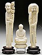 THREE IVORY CARVINGS.